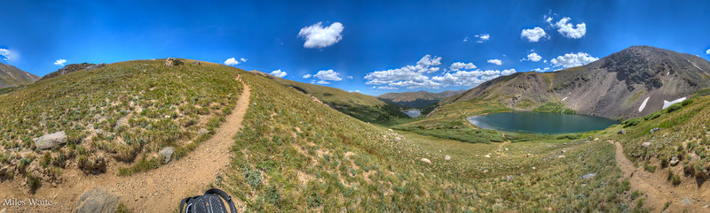 Got to make use of that Multi Row Nodal Mount! If you are going to drag a tripod and nodal mount on a long hike. TAKE HIKING POLES!  360 panorama looking down at Naylor Lake.