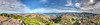Stunningly beautiful panorama from the top of the Otepatotu Scenic Reserve Trail.