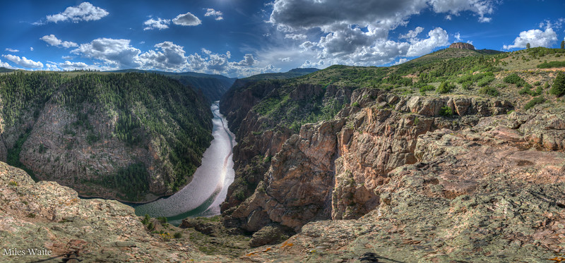 Panorama near the beginning of the Black Canyon of the Gunnison.