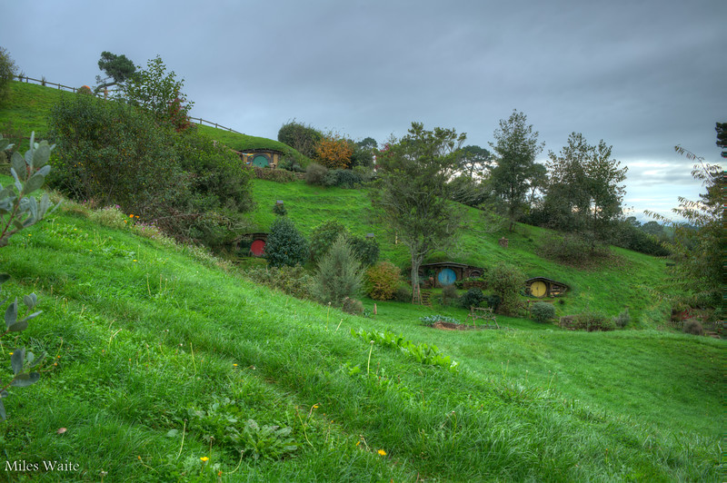 More Hobbit homes on the hill.