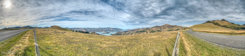 Panorama shot, on the Summit Road heading out to Akaroa.