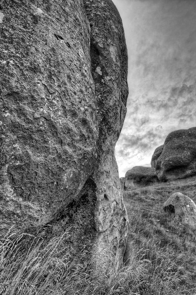 Close up of one of the rocks at Castle Hill.