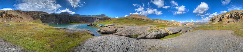 360 Panorama of Bullion King Lake. Nobody at all was up there.