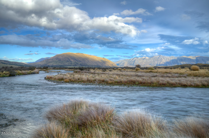 Another shot of the Rangitata River, and mountains in the distance.