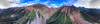 360 Drone panorama shot of Ophir pass and the surrounding mountains.