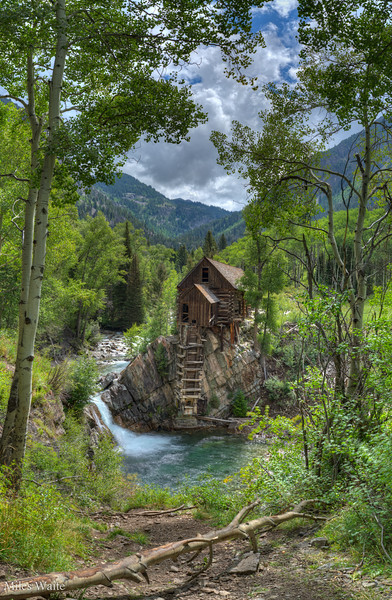 Establishing shot of the Crystal Mill.
