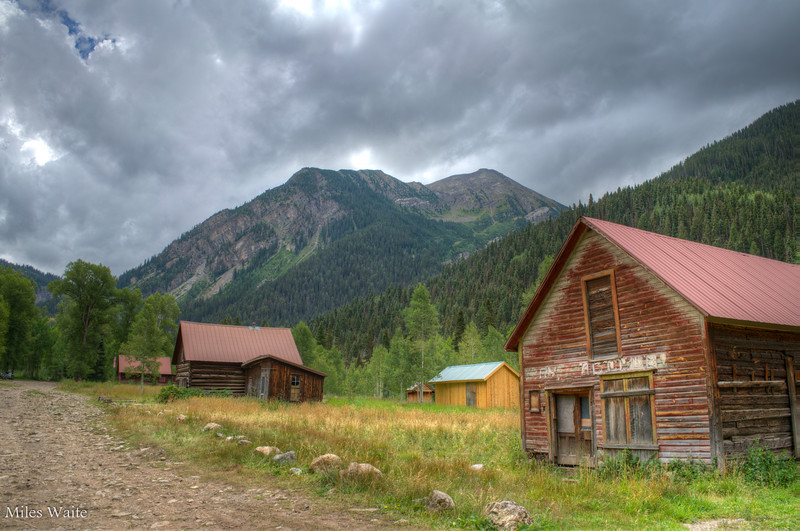 Cabins in the town of Crystal.