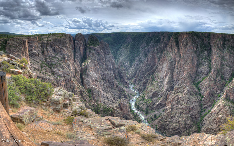 If you visit the Black Canyon of the Gunnison, and want to be free of crowds. Go to the north side.