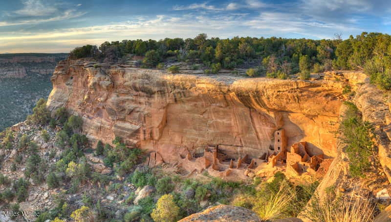 Sunset at Square Tower House Cliff Dwelling.