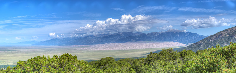 The Great Sand Dunes from Zapata Falls.