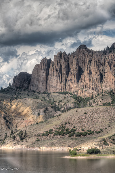 Color photo of the Dillon Pinnacles. Can't tell which one I like more.