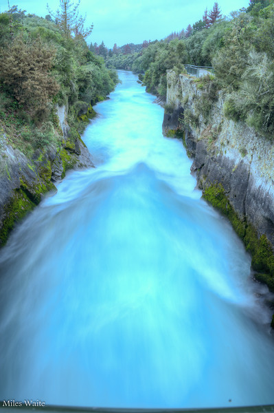 Looking down Huka Falls.