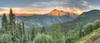 Sunset on Twilight Peak, taken off highway 550.