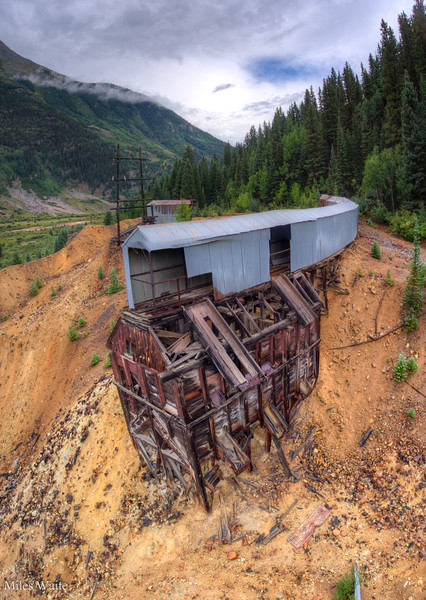 Abandoned Mining Buildings near Silverton. The drone gives such a great perspective.