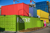 So after the big earthquake in downtown Christchurch. Many of the buildings if not collapsed were condemned. So what do you do? Well they brought in shipping containers, and made a big sort of outdoor mall out of them! Oh they also painted them very bright contrasting colors. Aptly called the Restart mall.