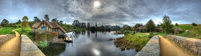 180deg Panorama taken from the Bywater Bridge.