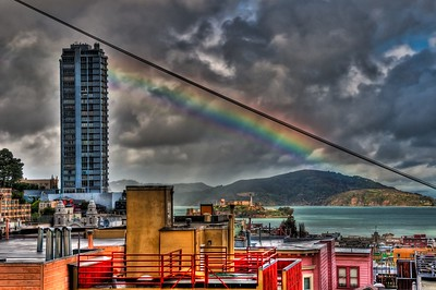 Rainbow over Alcatraz