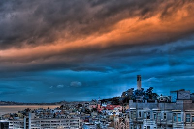 Coit Glowing Clouds