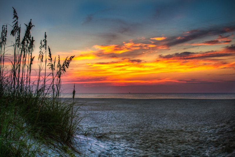 St. Augustine Beach Sunrise HDR post-processed w/ lightroom and Ps