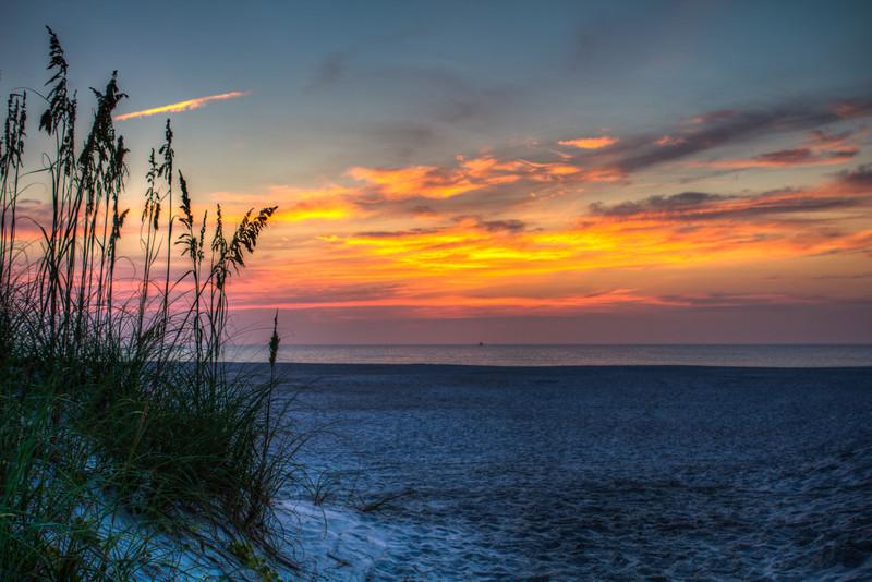 St. Augustine Beach Sunrise HDR post-processed w/ lightroom