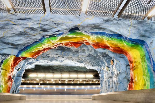 Stockholm Subway - Red Line - Stadion