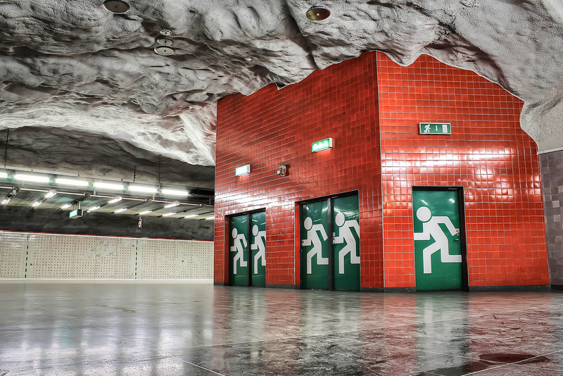 Stockholm Subway - Red Line - Universitetet, Emergency Exit II