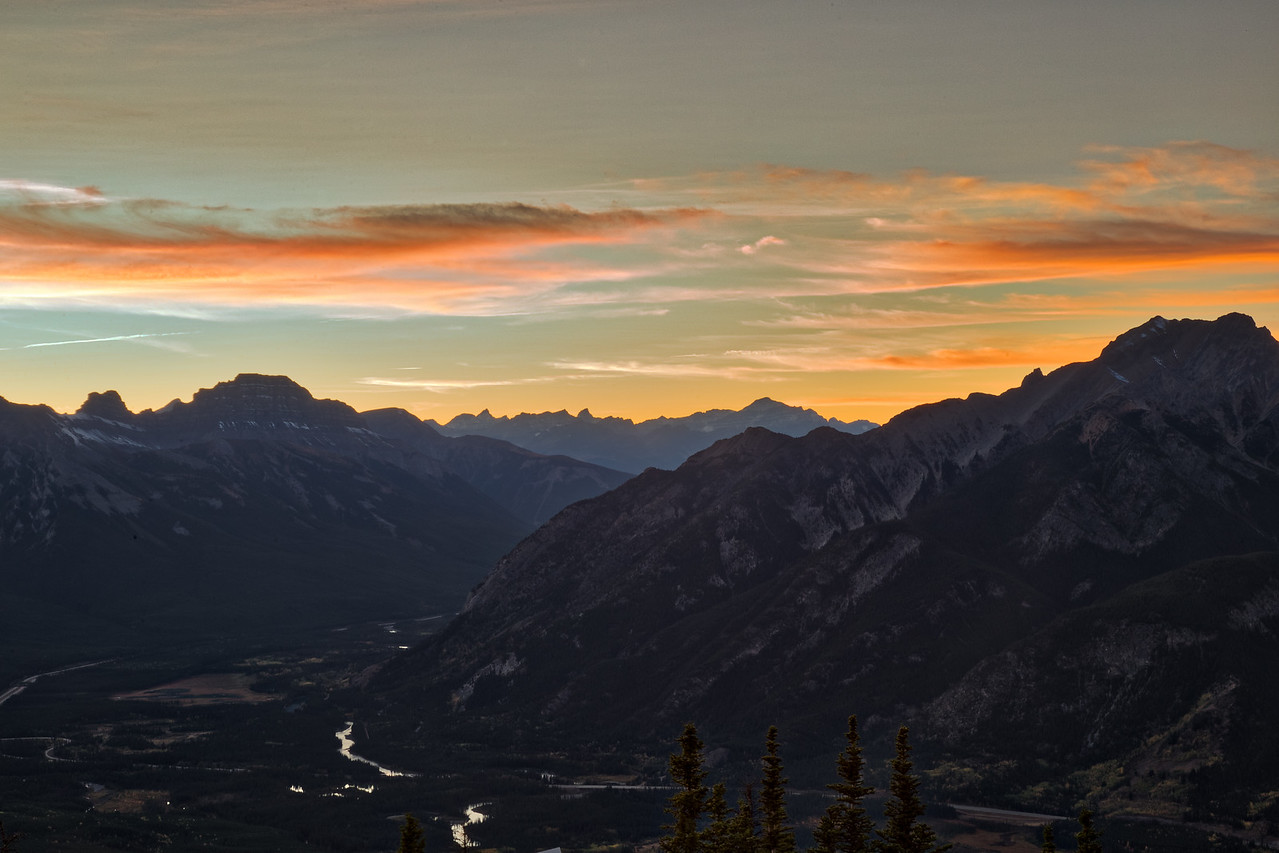 Sulphur Mountain Sunset HDR