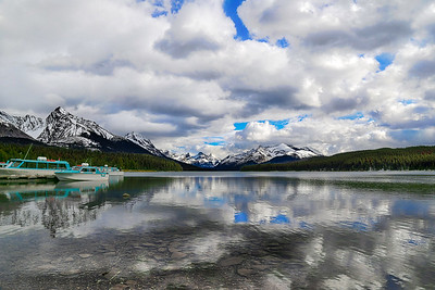 Maligne Lake Reflection HDR