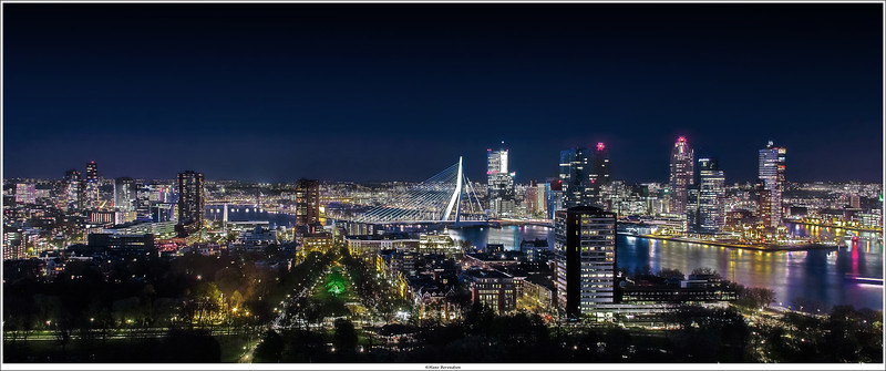 "Skyline of Rotterdam, taken from the ""Euromast"""