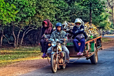 Cambodia Motorcycle Trailer