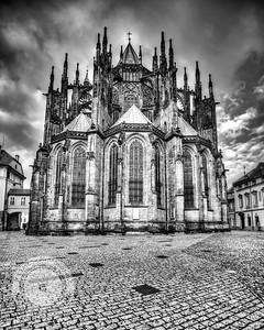 Prague Cathedral Rear