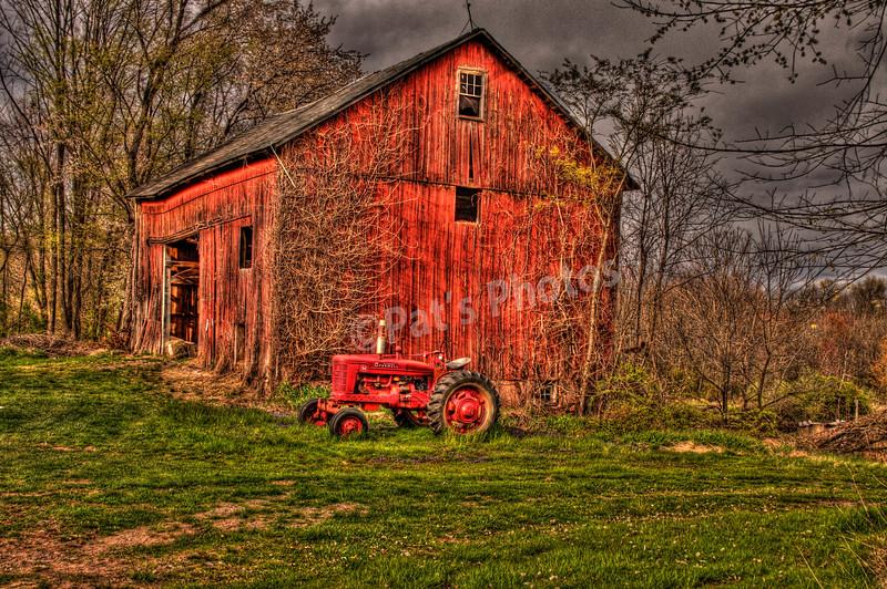 Hunterdon Co. Barn and Tractor