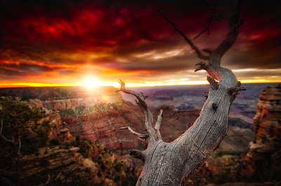 Sunset over the Grand Canyon - USA