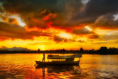 Sunset over Kuching