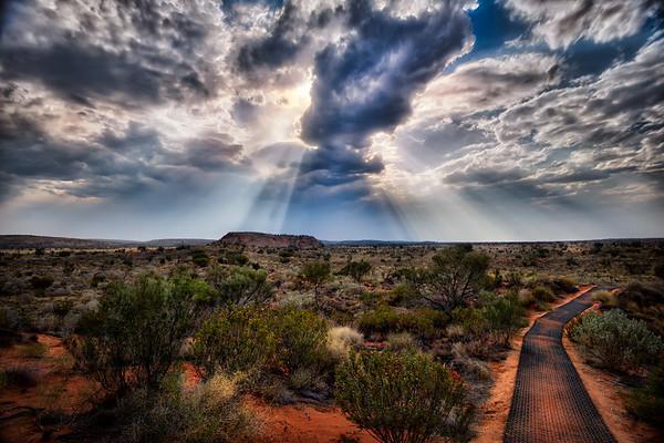 Sun Burst Over Outback -  Australia