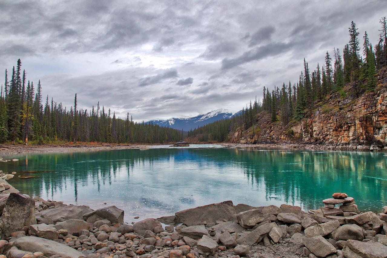 Athabasca Falls Landscape HDR