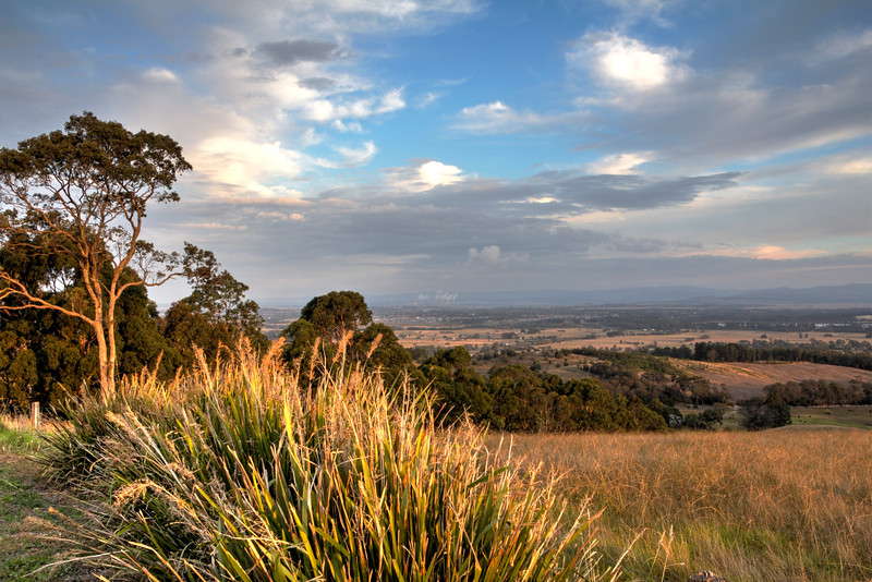Traralgon from the Tyers hill