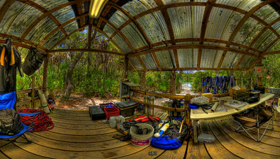 Little Salt Springs, Northport Florida Dive Equipment Hut