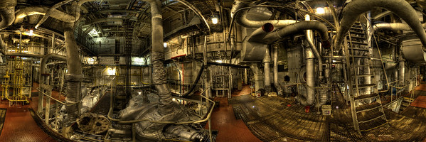360 degree image of the engine room