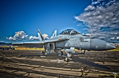 F/A-18F High Dynamic Range (3 exp) photo at the 2011 Rocky Mountain Metropolitan Airport, Colorado. (formerly Jeffco)