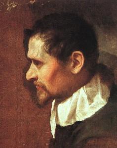 Annibale Carraci self-portrait in profile