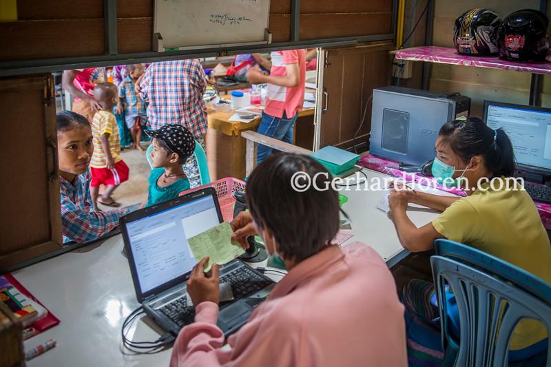 Wangpha Clinic, on the Thai-Myanmar border, Thailand
