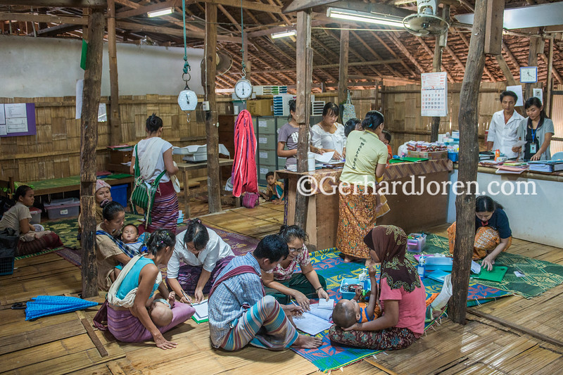 Maela clinic in Maela camp, north of Mae Sot ,  Thailand
