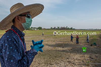 Soil sampling for Melioidosis, Bangkok, Thailand