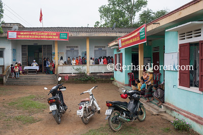 Ethnic minorities getting health check-ups. Central Highlands, Vietnam