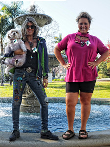 Misti Cooper, Coco & I are chillaxing at the Fountain on Doheny at Santa Monica Blvd in Beverly HIlls (Jan 2020)