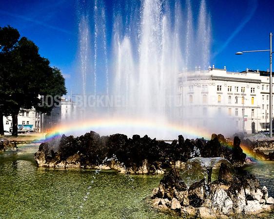 Vienna Fountain Rainbow