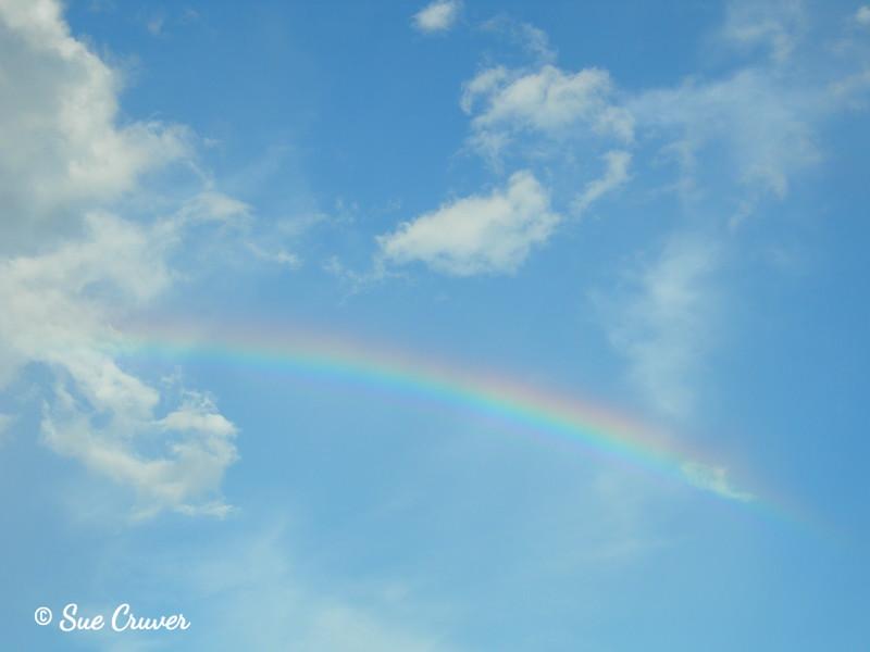 Rainbow in Blue