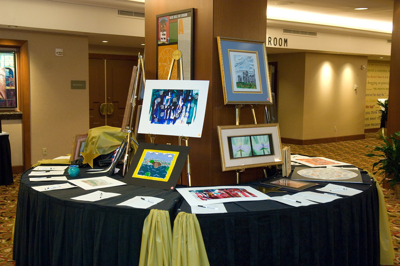 More than 100 students and teachers donated original artwork for the silent auction.