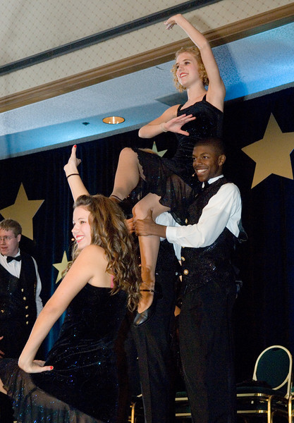 "Trinity High School's show choir, ""Harmony,"" performs during gala program."